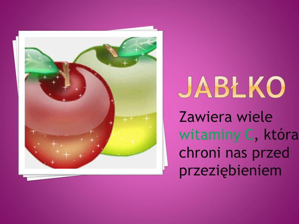 Zawiera wiele witaminy C, która chroni nas przed przeziębieniem