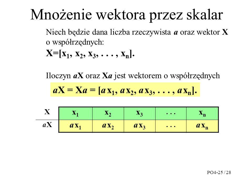 Mnożenie wektora przez skalar X x1x1 x2x2 x3x3...