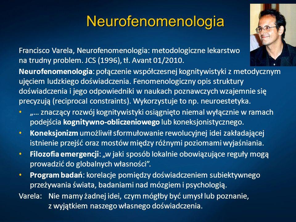 Neurofenomenologia Francisco Varela, Neurofenomenologia: metodologiczne lekarstwo na trudny problem.