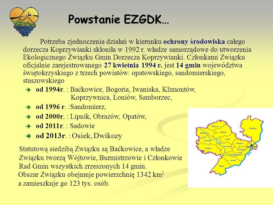 Zadania EZGDK: Zadaniem Związku jest ochrona i kształtowanie naturalnego środowiska dorzecza Koprzywianki.