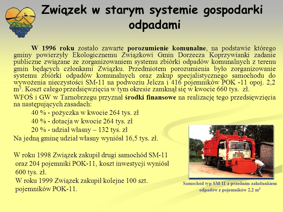 Związek w starym systemie gospodarki odpadami c.d.
