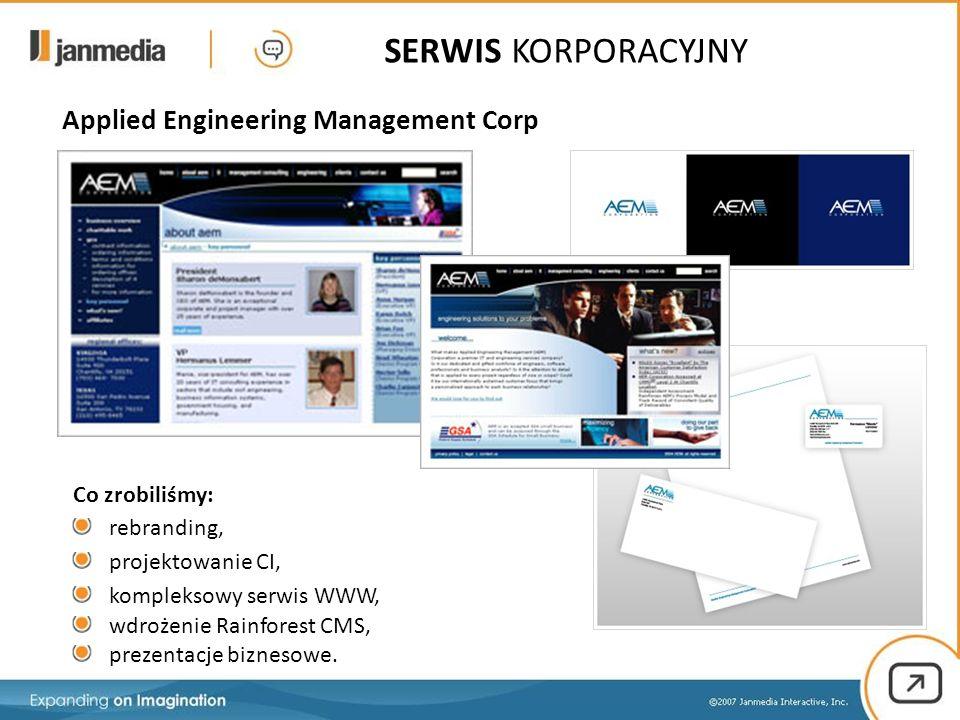17 / 15 Co zrobiliśmy: rebranding, projektowanie CI, kompleksowy serwis WWW, wdrożenie Rainforest CMS, prezentacje biznesowe.
