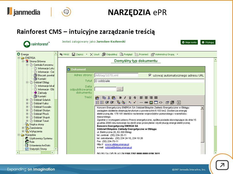 Rainforest CMS – intuicyjne zarządzanie treścią NARZĘDZIA ePR