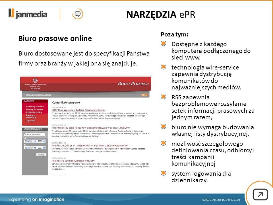 Biuro prasowe online Biuro dostosowane jest do specyfikacji Państwa firmy oraz branży w jakiej ona się znajduje.