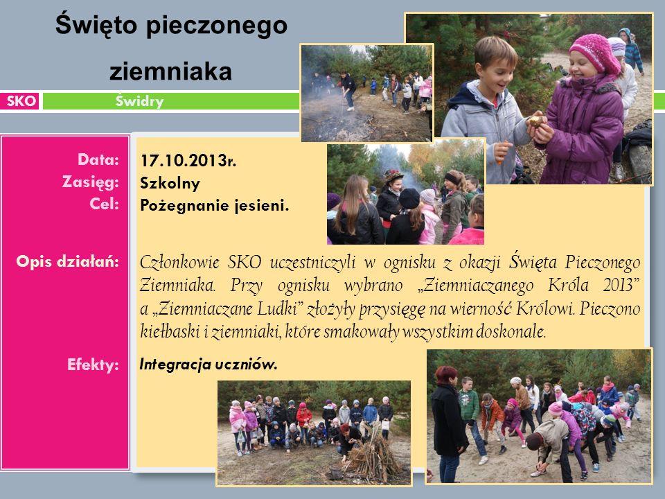 SKO Świdry Data: Zasięg: Cel: Opis działań: Efekty: 17.10.2013r.