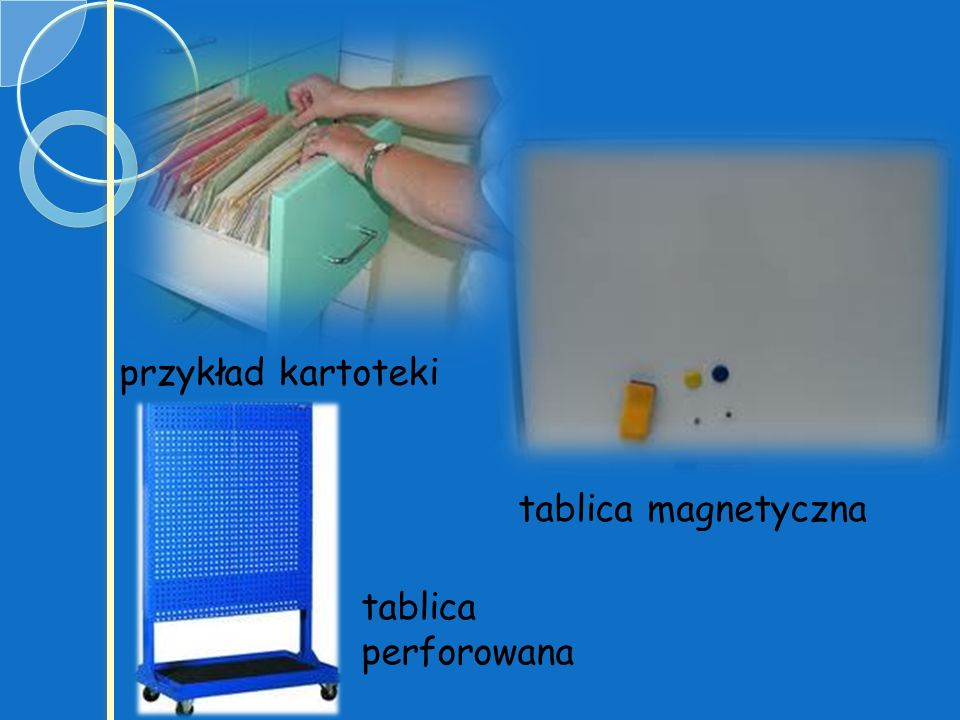 przykład kartoteki tablica magnetyczna tablica perforowana
