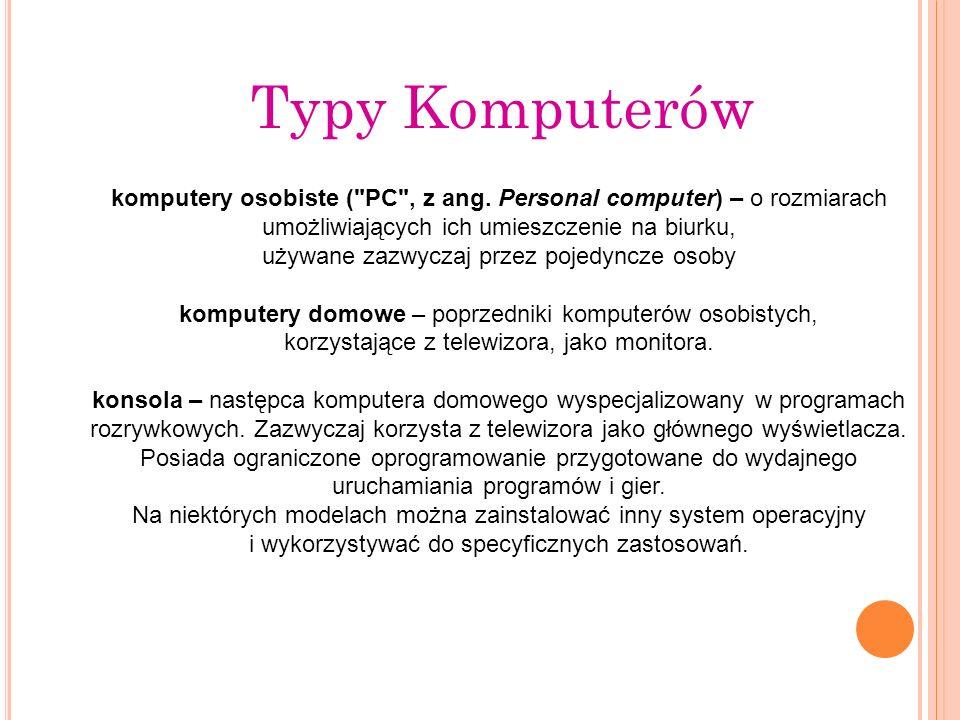 Typy Komputerów komputery osobiste (