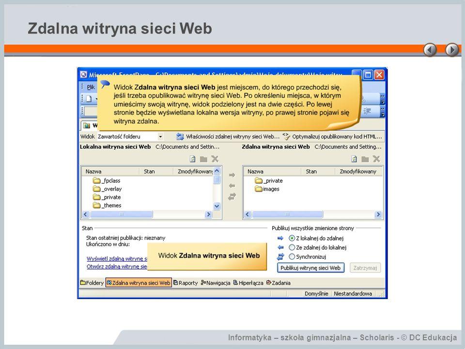 Informatyka – szkoła gimnazjalna – Scholaris - © DC Edukacja Zdalna witryna sieci Web