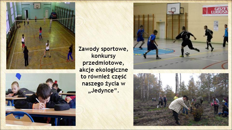 """Zawody sportowe, konkursy przedmiotowe, akcje ekologiczne to również część naszego życia w """"Jedynce""""."""