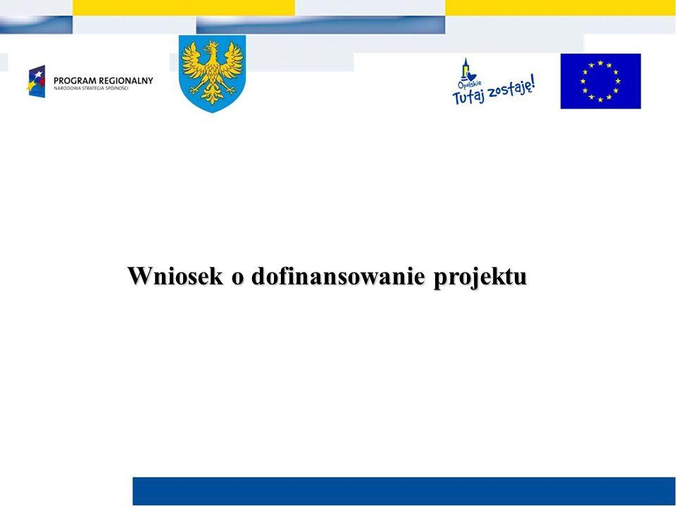 Wniosek o dofinansowanie projektu