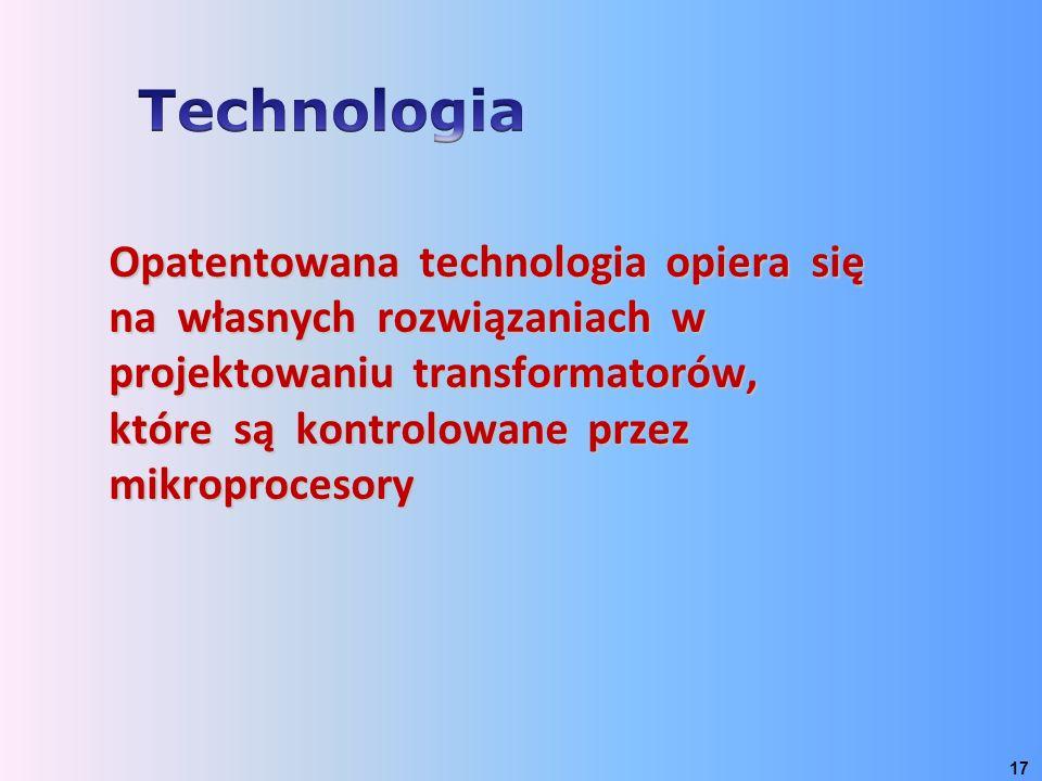 Opatentowana technologia opiera się na własnych rozwiązaniach w projektowaniu transformatorów, które są kontrolowane przez mikroprocesory 17