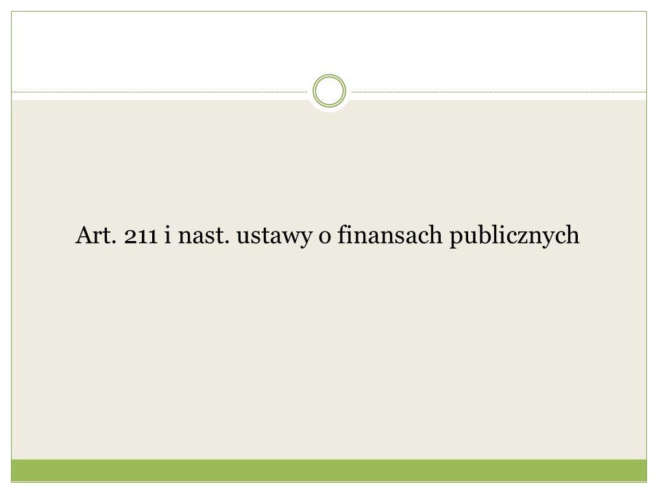 Art. 211 i nast. ustawy o finansach publicznych