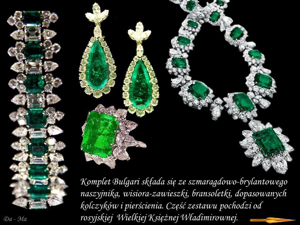 Da - Ma Richard Burton kompletował zestaw w latach 1962/67 w firmie Bulgari w Rzymie.