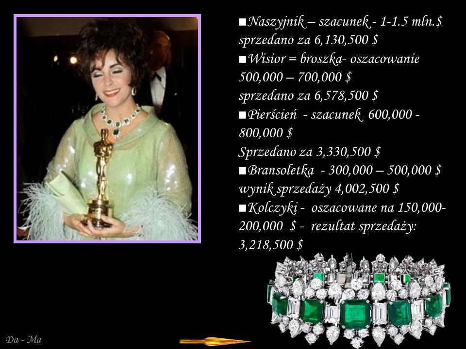 Da - Ma Komplet Bulgari składa się ze szmaragdowo-brylantowego naszyjnika, wisiora-zawieszki, bransoletki, dopasowanych kolczyków i pierścienia.