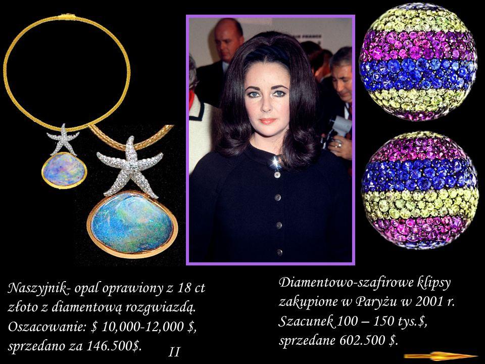 Da - Ma Diamentowo-szmaragdowy naszyjnik prezent od Michaela Jacksona z pracowni Oscara Heymana – wycena 30 – 50 tys.dol.