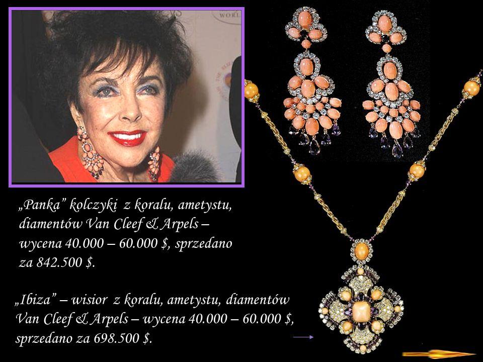 Da - Ma Naszyjnik i kolczyki diamentowo- szmaragdowo - rubinowe Massoni – cena szacunkowa 60 – 80 tys.