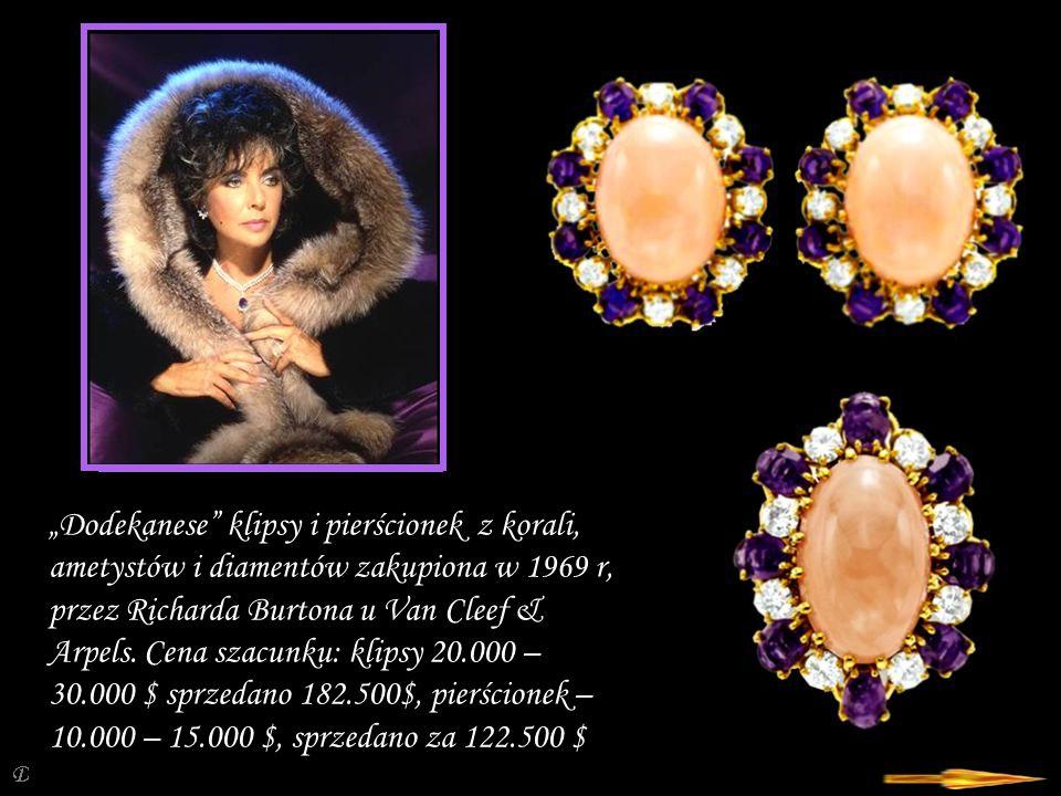 """Da - Ma """"Lamartine bransoletka z koralu, ametystu, diamentów Van Cleef & Arpels – wycena 40.000 – 60.000 $, sprzedano za 782.500 $."""