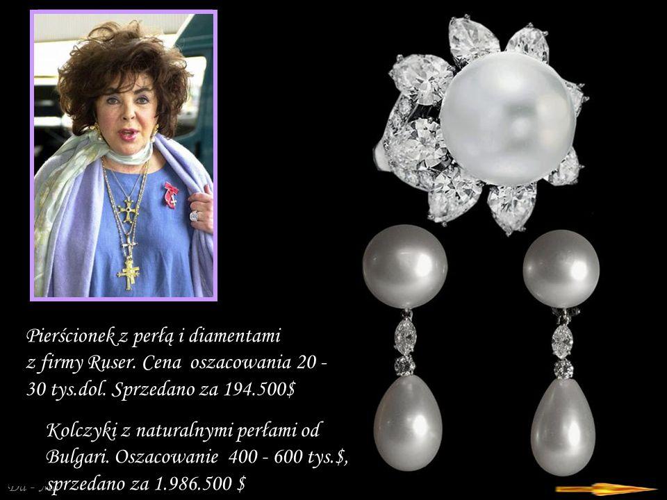 """Da - Ma """"Dodekanese klipsy i pierścionek z korali, ametystów i diamentów zakupiona w 1969 r, przez Richarda Burtona u Van Cleef & Arpels."""