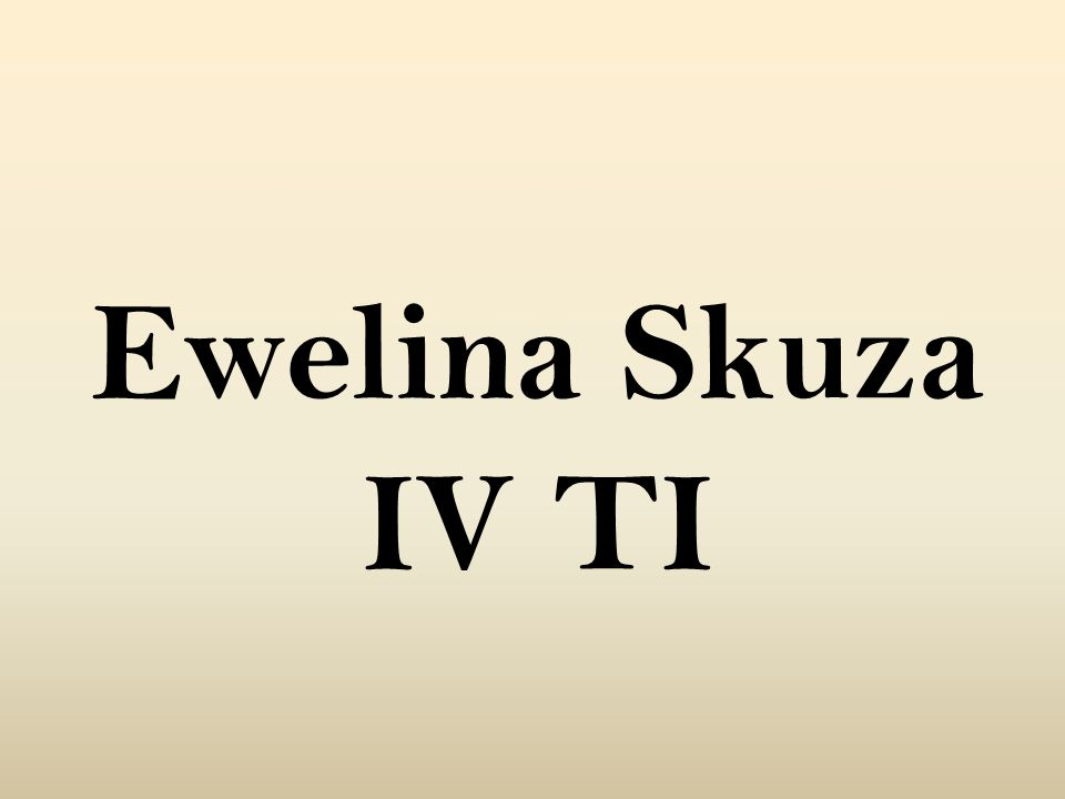 Ewelina Skuza IV TI