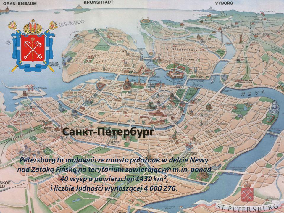 Petersburg to malownicze miasto położone w delcie Newy nad Zatoką Fińską na terytorium zawierającym m.in.