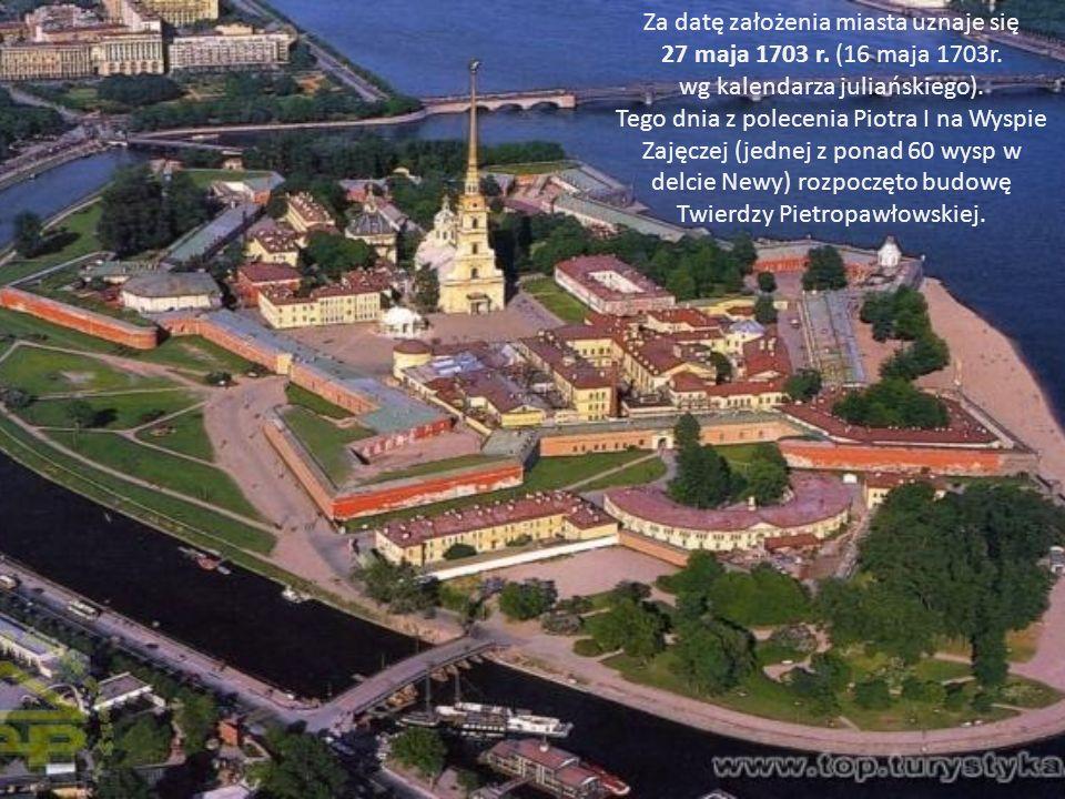 Za datę założenia miasta uznaje się 27 maja 1703 r.