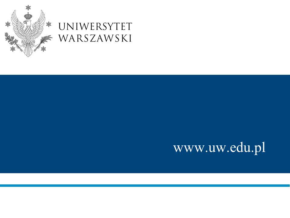 UNIWERSYTET WARSZAWSKI Uniwersytet Warszawski, założony w 1816 roku, jest najbardziej prestiżowym i największym uniwersytetem w Polsce.