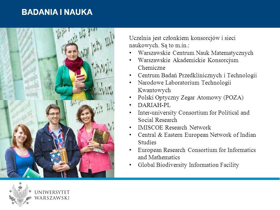 Uczelnia jest członkiem konsorcjów i sieci naukowych.