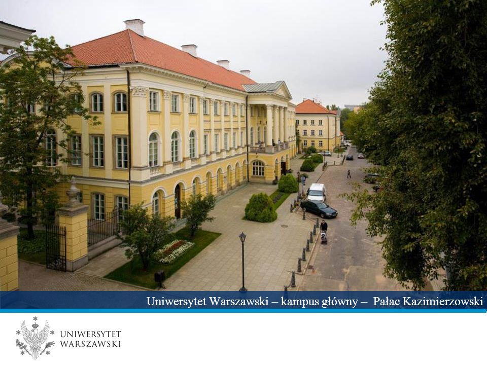 Uniwersytet Warszawski – kampus główny – Pałac Kazimierzowski