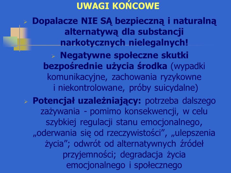 PIŚMIENNICTWO Kała M.: Scena narkotykowa w Polsce z punktu widzenia toksykologa sądowego, Przegl.
