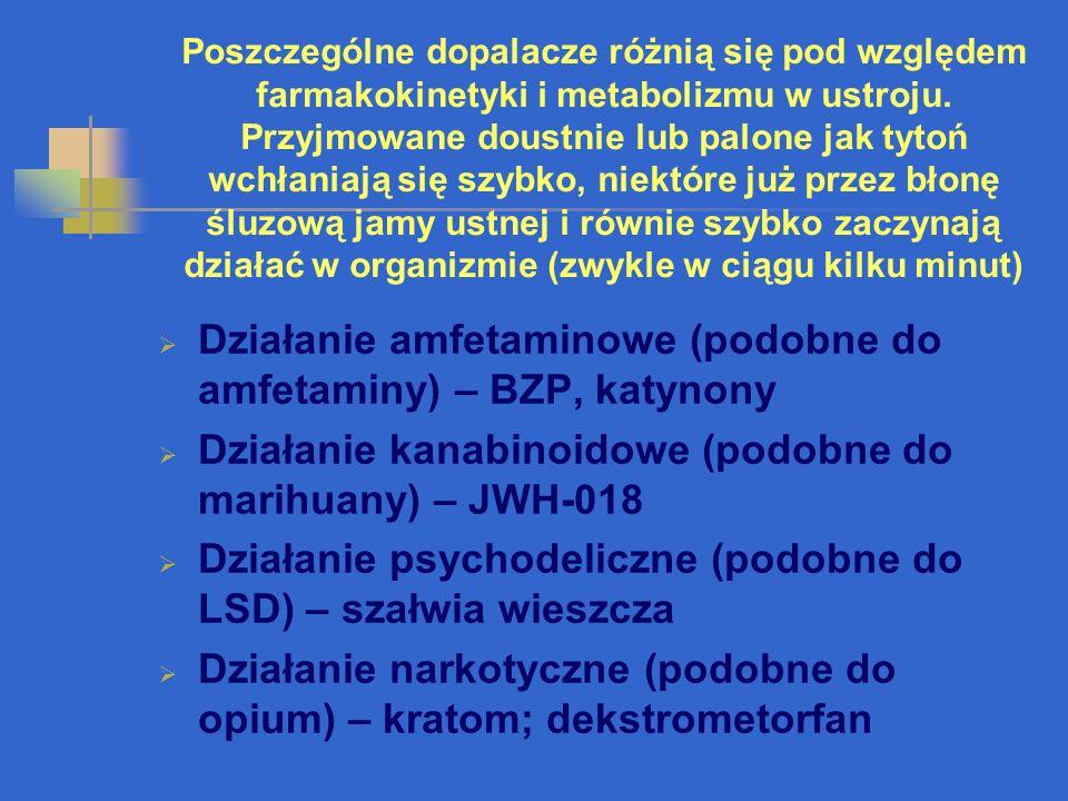 SUBSTANCJE SYNTETYCZNE N-benzylopiperazyna (BZP) 3-trifluorometylofenylpiperazyna (TFMPP) inne pochodne piperazyny, np.