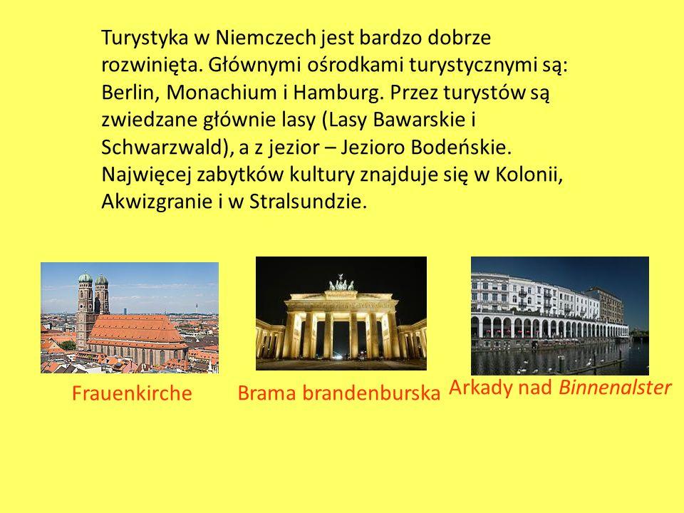 Turystyka w Niemczech jest bardzo dobrze rozwinięta. Głównymi ośrodkami turystycznymi są: Berlin, Monachium i Hamburg. Przez turystów są zwiedzane głó