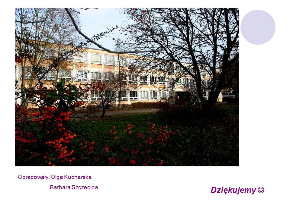 Dziękujemy Opracowały: Olga Kucharska Barbara Szczecina