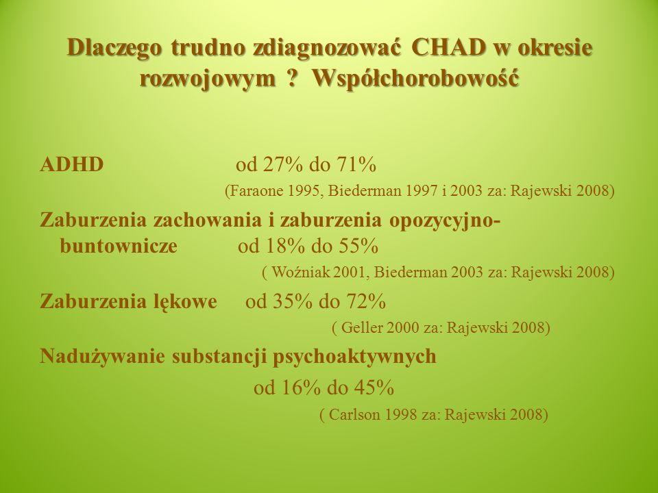 Dlaczego trudno zdiagnozować CHAD w okresie rozwojowym .