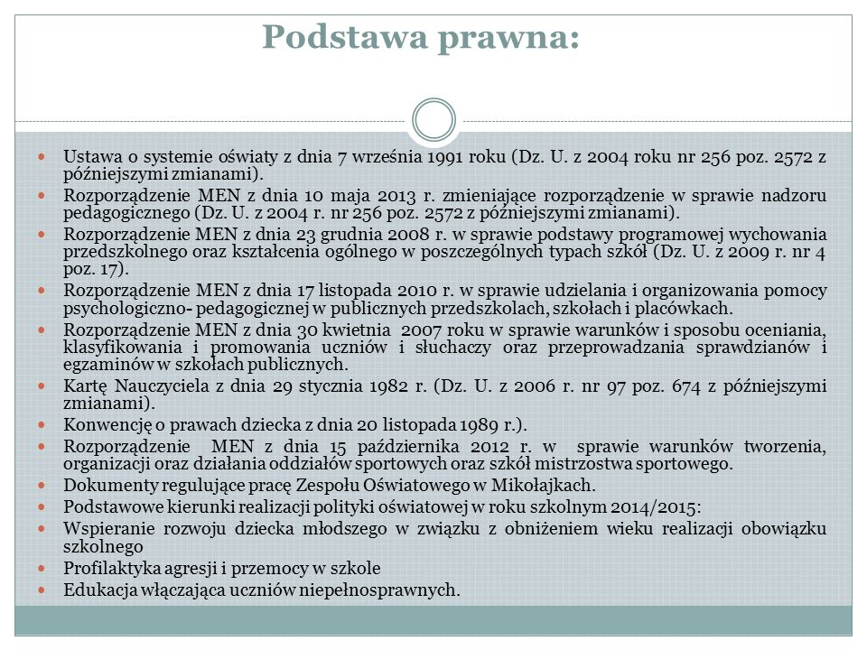 Koncepcja pracy zaopiniowana pozytywnie przez Radę Pedagogiczną, dn.