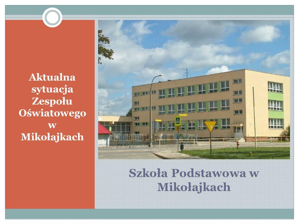 Szkoła Podstawowa w Mikołajkach Aktualna sytuacja Zespołu Oświatowego w Mikołajkach