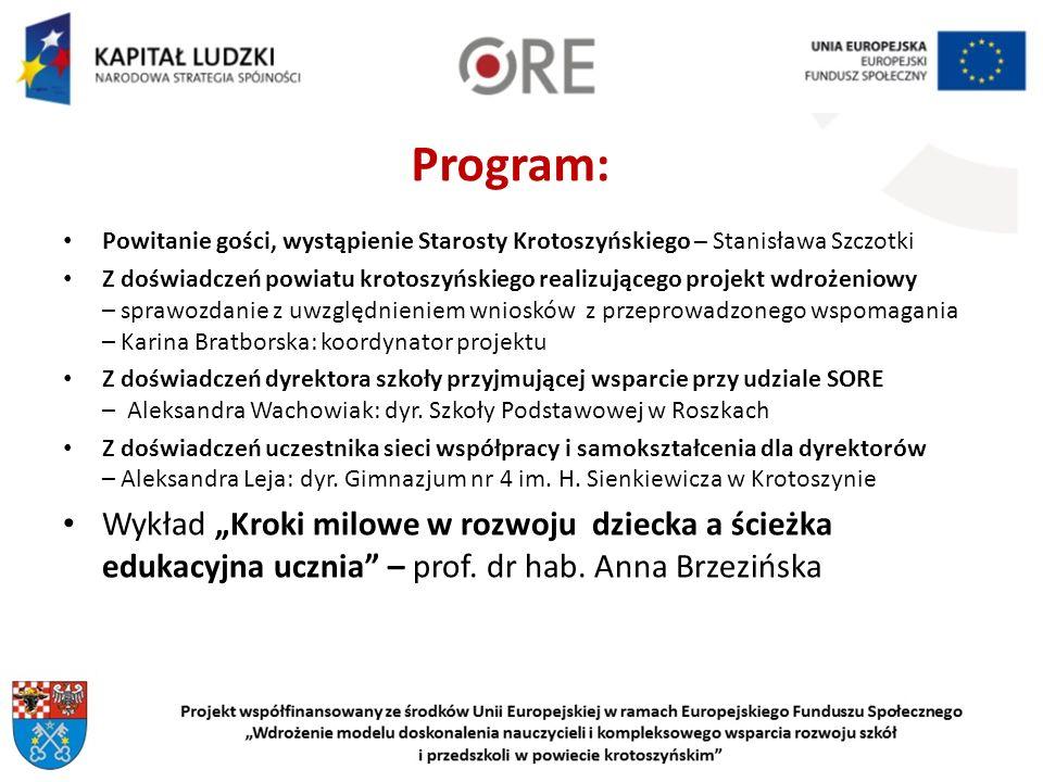 Szkolni Organizatorzy Rozwoju Edukacji Irena GrobelnaSylwia MintaAgnieszka Gierłowska Alina JańczakJoanna Rogowska-Sroka