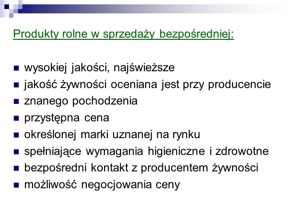 Produkty rolne w sprzedaży bezpośredniej: wysokiej jakości, najświeższe jakość żywności oceniana jest przy producencie znanego pochodzenia przystępna