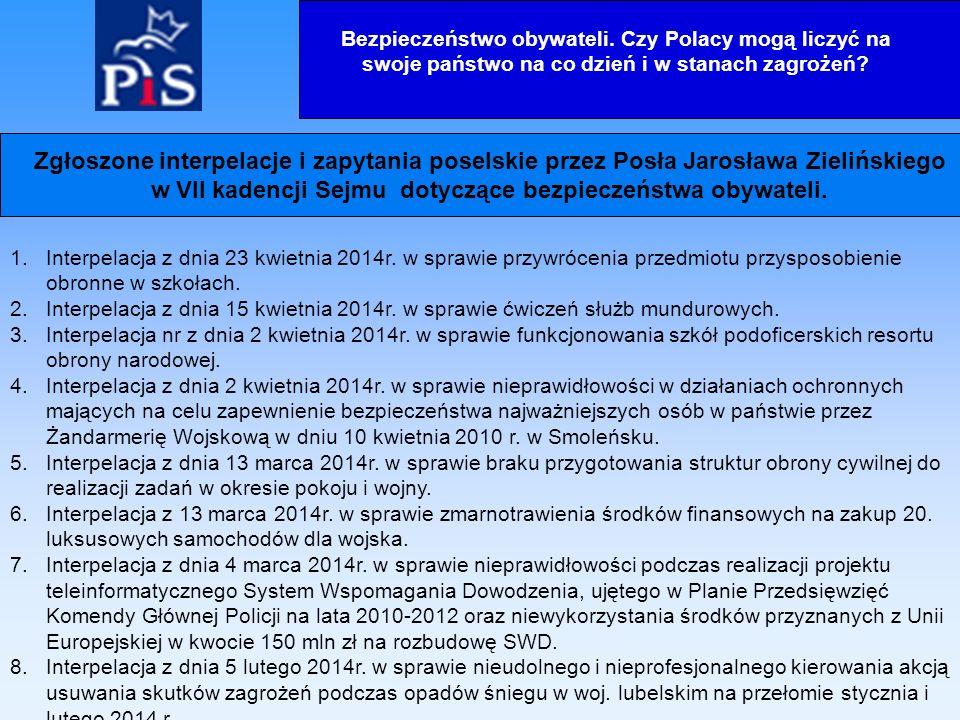 9.Interpelacja z dnia 23 stycznia 2014r.