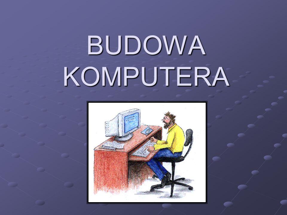Dysk twardy Znajduje się we wnętrzu obudowy komputera lub w łatwo dostępnej szufladzie, tzw.