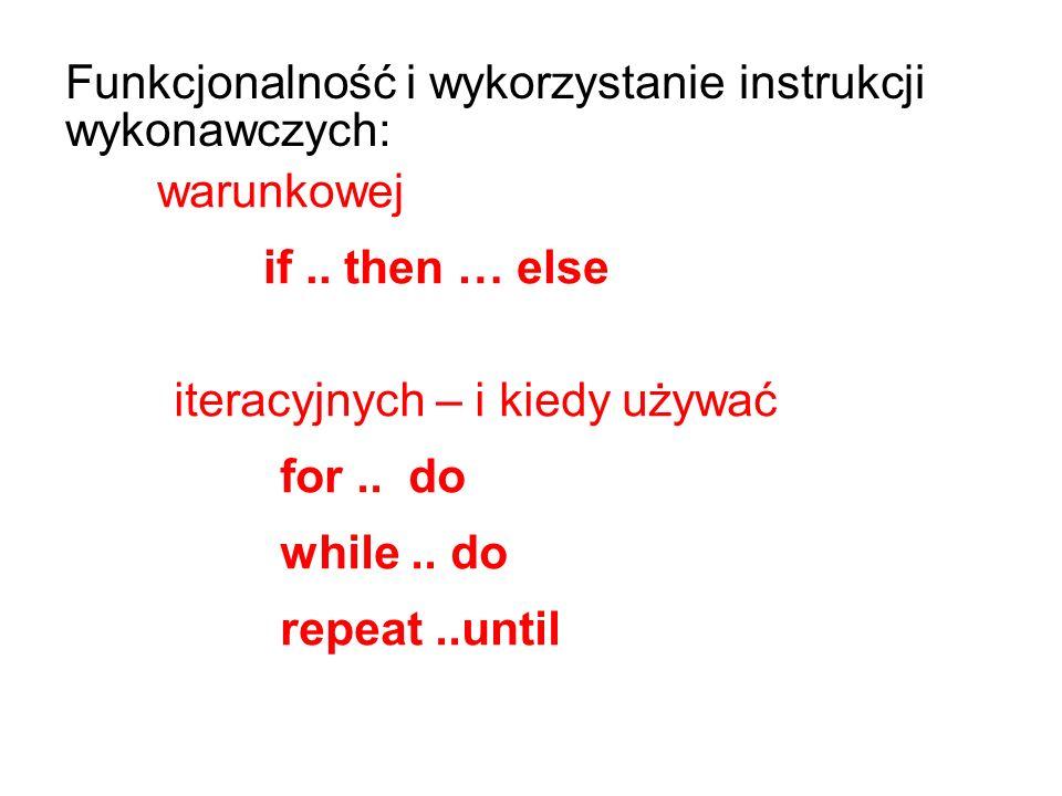 iteracyjnych – i kiedy używać for.. do while..