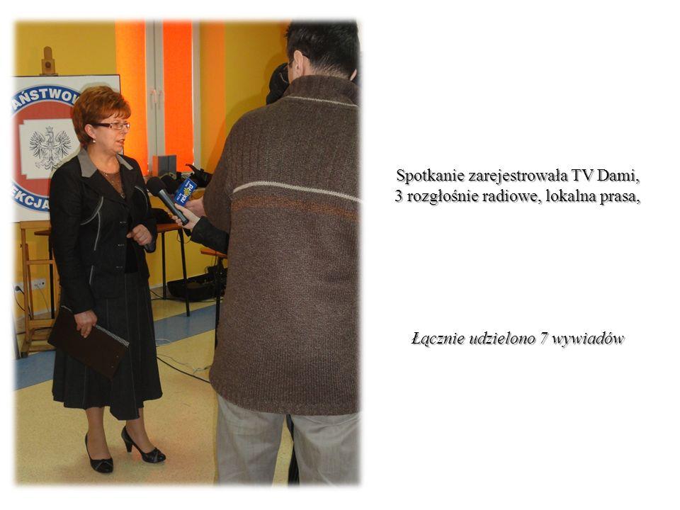 Spotkanie zarejestrowała TV Dami, 3 rozgłośnie radiowe, lokalna prasa, Łącznie udzielono 7 wywiadów