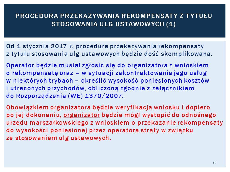 Od 1 stycznia 2017 r. procedura przekazywania rekompensaty z tytułu stosowania ulg ustawowych będzie dość skomplikowana. Operator będzie musiał zgłosi