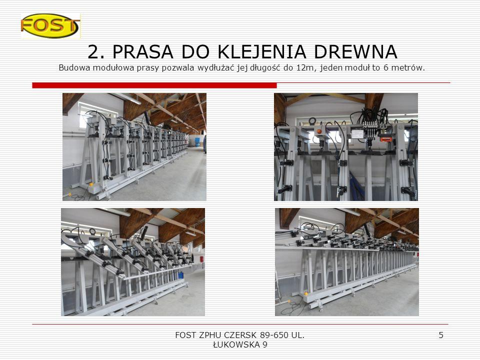 FOST ZPHU CZERSK 89-650 UL. ŁUKOWSKA 9 4 1.Korowarka kłód Film pokazujący jak pracuje maszyna Maszyna do kłód wyrównuje wszelkie nierówności jest wyda