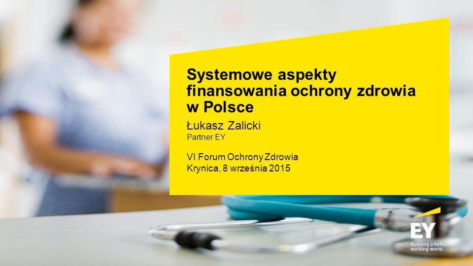 Systemowe aspekty finansowania ochrony zdrowia w Polsce Łukasz Zalicki Partner EY VI Forum Ochrony Zdrowia Krynica, 8 września 2015