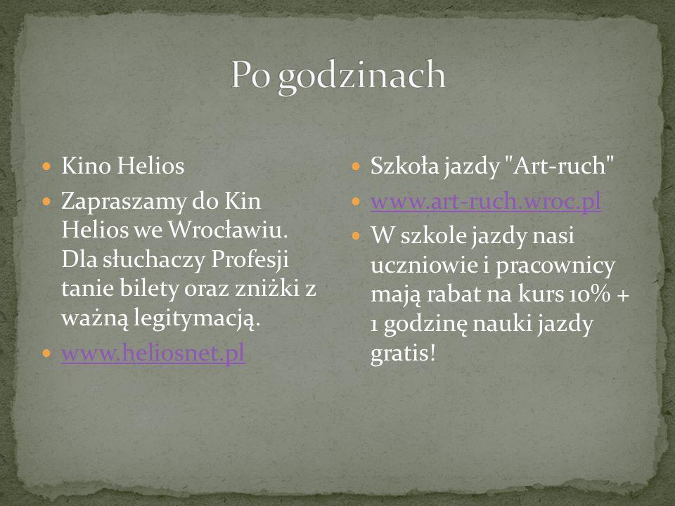 Kino Helios Zapraszamy do Kin Helios we Wrocławiu.