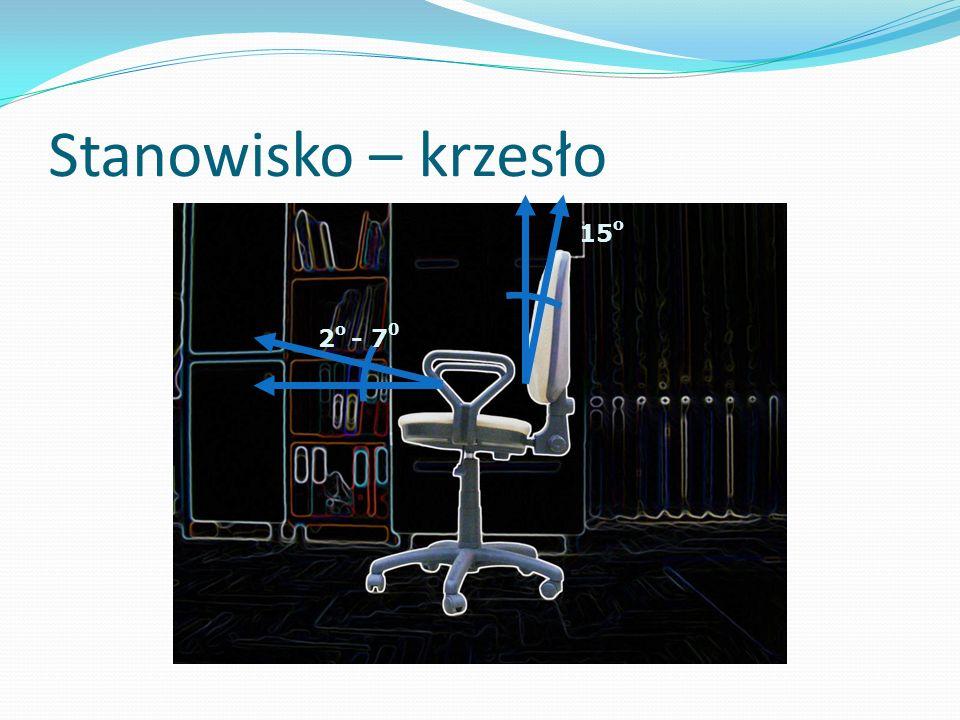 Stanowisko – krzesło 15 o 2 o - 7 0
