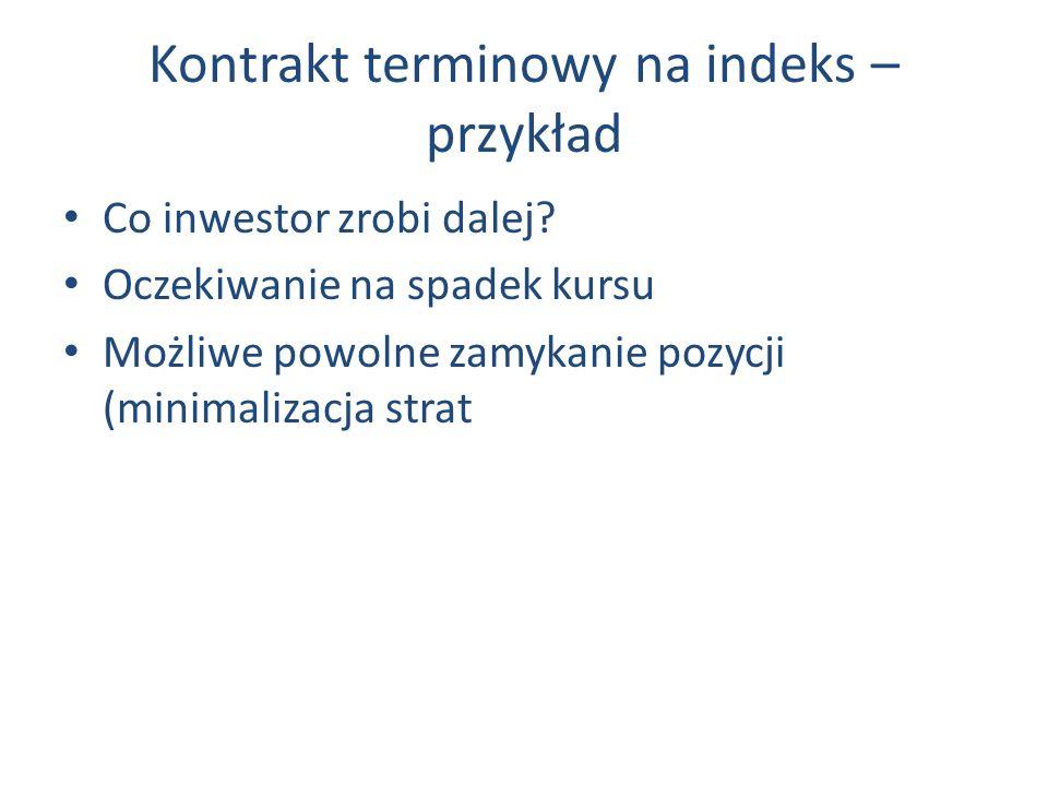Kontrakt terminowy na indeks – przykład Co inwestor zrobi dalej.