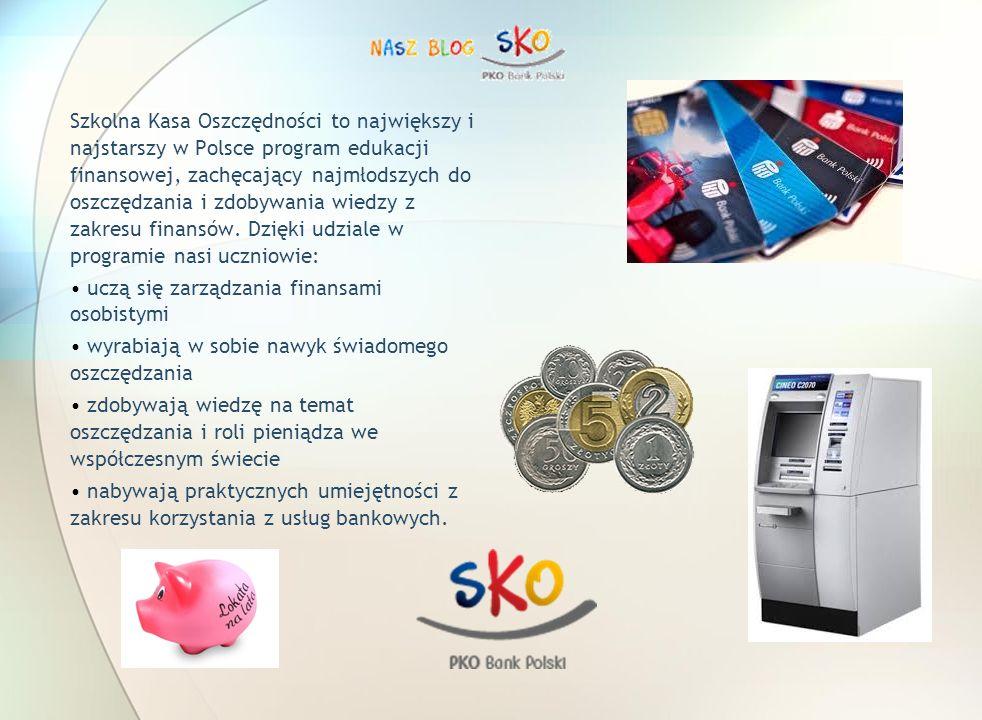 Szkolna Kasa Oszczędności to największy i najstarszy w Polsce program edukacji finansowej, zachęcający najmłodszych do oszczędzania i zdobywania wiedzy z zakresu finansów.
