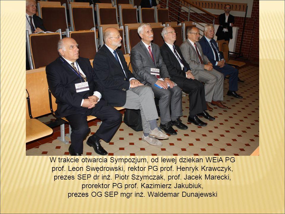 W trakcie otwarcia Sympozjum, od lewej dziekan WEiA PG prof.