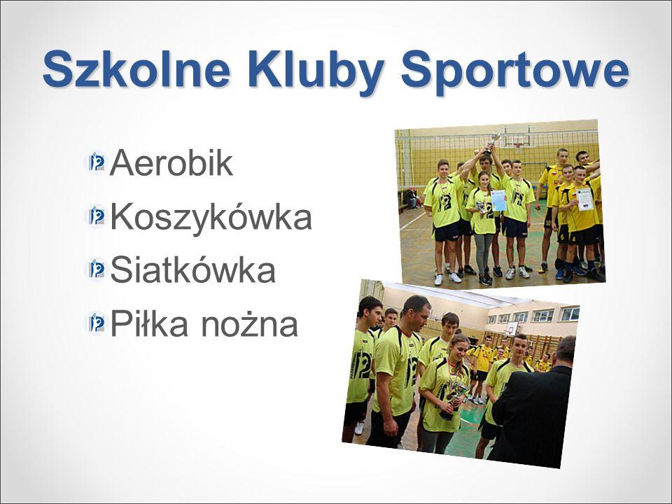 Szkolne Kluby Sportowe Aerobik Koszykówka Siatkówka Piłka nożna
